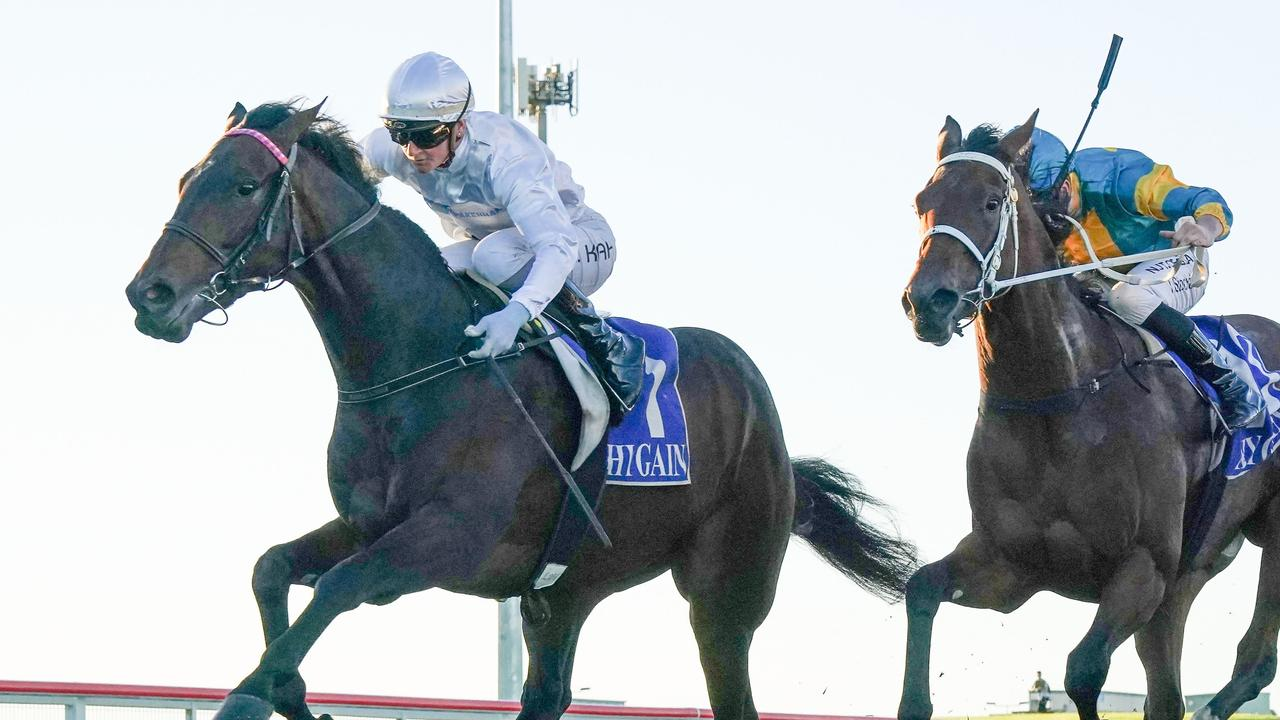 Jamie Kah claimed her 1000th career win after riding Bermadez to victory at Pakenham. Picture: Racing Photos via Getty Images