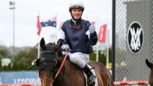 Top jockey Ben Melham is in the home stretch of a five-month disqualification period. Picture: Racing Photos