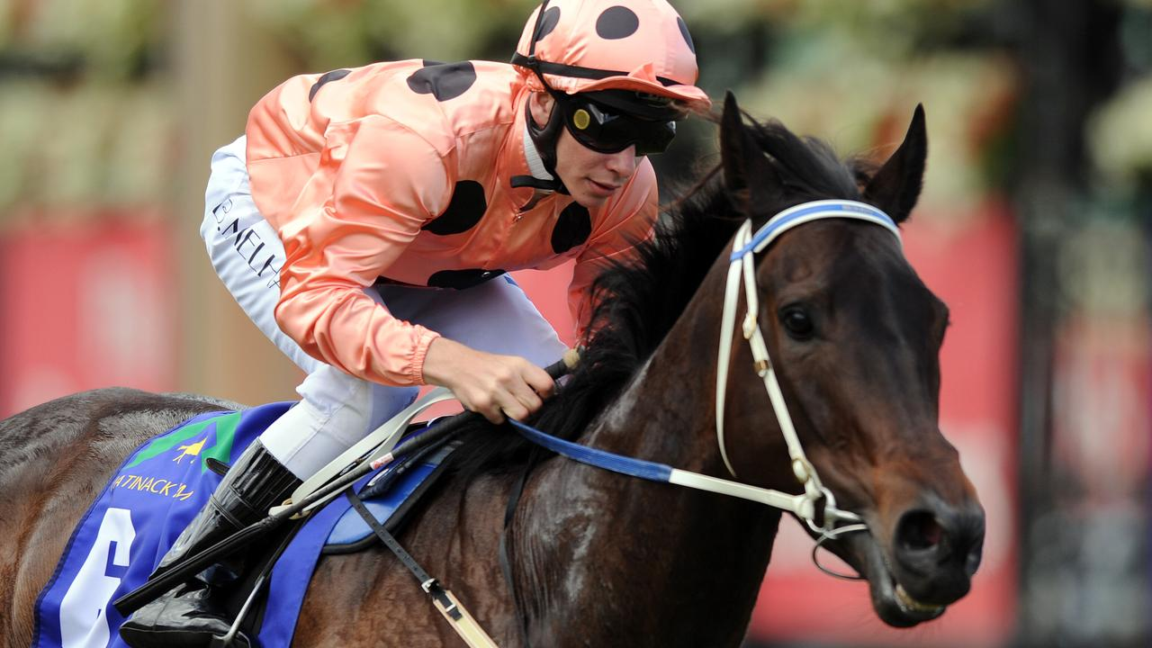 Black Caviar winning the Group 1 Patinack Farm Classic in 2010. Picture: AAP