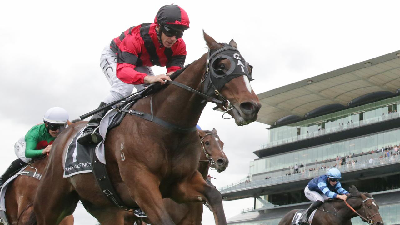 Tim Clark pilots Converge to a win at Randwick in April. Picture: Getty Images