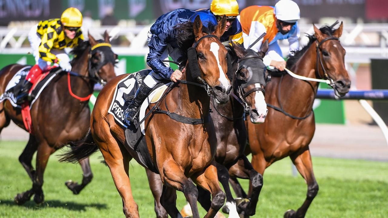 VRC Oaks winner Personal will be off the US to chase a start in the rich Breeders' Cup carnival in November. Picture: Racing Photos via Getty Images