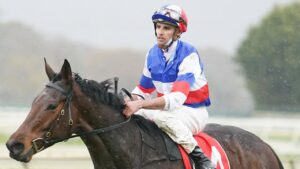 Billy Egan rode a winner at Sale aboard Slipintothis on Wednesday but he was hit with a 14-meeting ban for striking a horse. Picture: Racing Photos