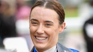 Laura Lafferty was involved in a shocking fall at Swan Hill. Picture: Getty Images