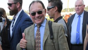 Trainer Gary Moore (pictured) and Tim Clark combine with Prince Invincible and Lucky To Win at Wyong on Thursday. Photo: AAP Image