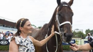 Nini Vascotto with Winx in 2019. Picture: Bronwen Healy