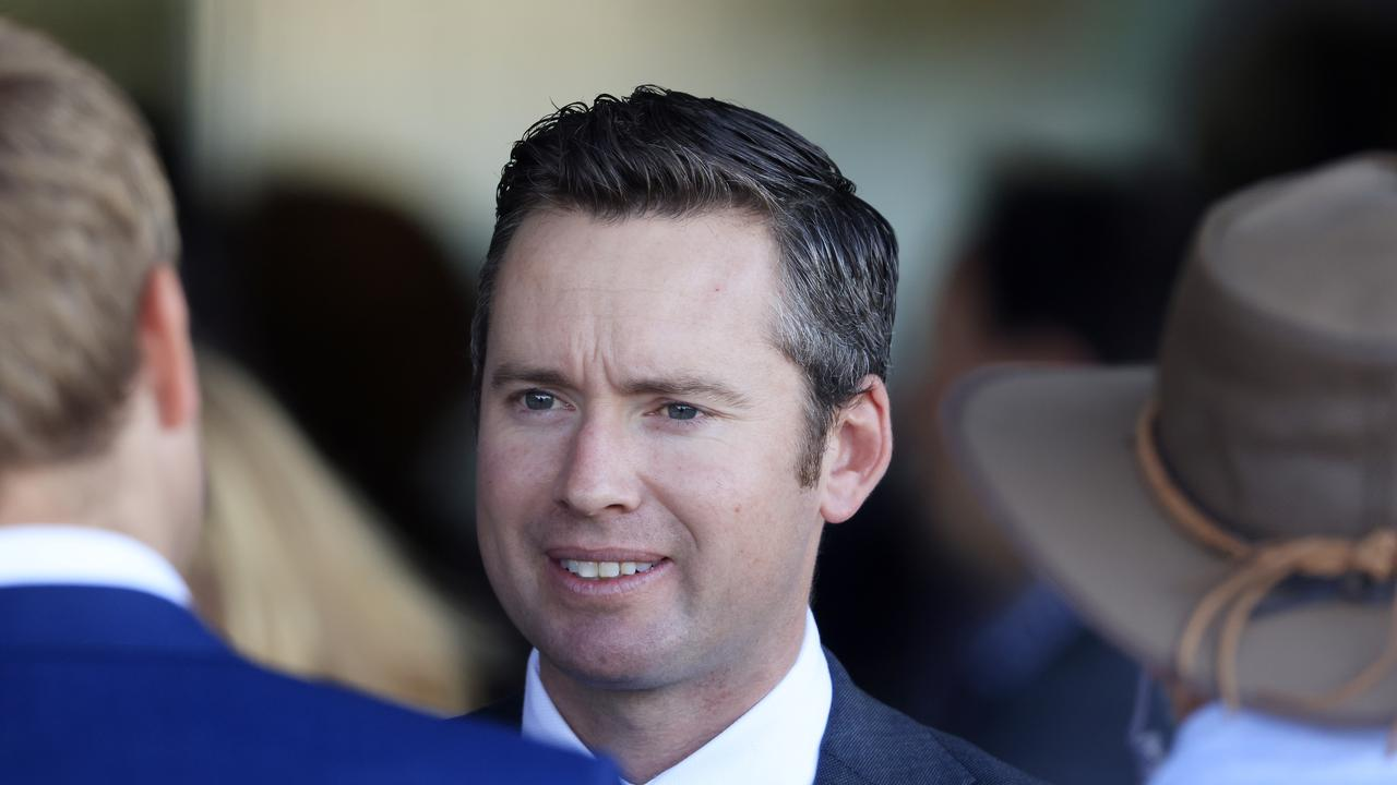 SYDNEY, AUSTRALIA – APRIL 03: Adrian Bott looks on after winning race 3 the Signace Tulloch Stakes with Yaletown during Sydney Racing at Rosehill Gardens on April 03, 2021 in Sydney, Australia. (Photo by Mark Evans/Getty Images)