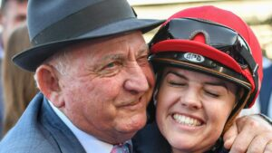 Trainer Leon Macdonald had to be taken to hospital on Thursday after a trackwork accident. Photo: AAP Image/Vince Caligiuri
