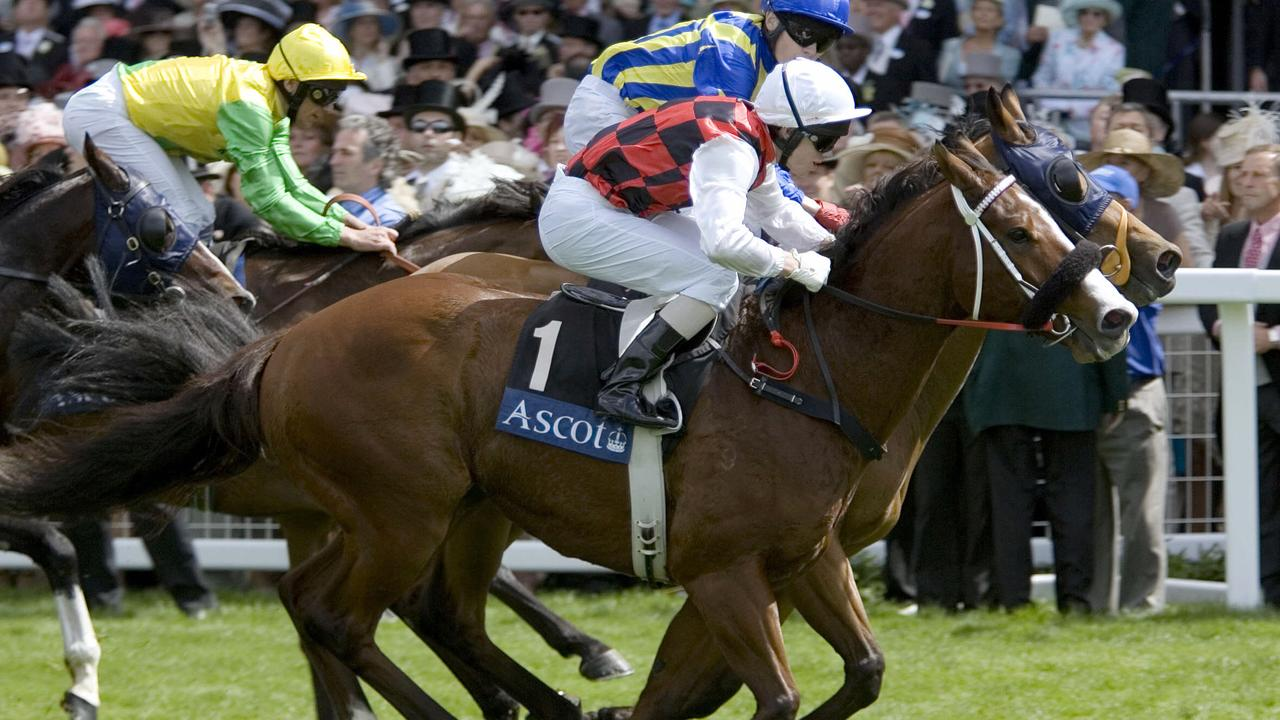 Jay Ford and Takeover Target winning the King Stand Stakes at Royal Ascot in 2006.