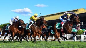 Tofane winning the Group 1 Stradbroke Handicap at Eagle Farm earlier this month. Picture: Trackside Photography