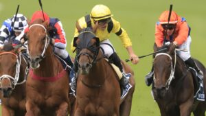 Two-time Queen Elizabeth Stakes winner Addeybb is set to return at Sandown in England this weekend. Picture: Getty Images