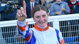 Jamie Kah after her season record winner at Caulfield. Picture: Racing Photos
