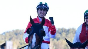 Ben Thompson, after riding Snitch to victory at Ipswich, has banned for four months. Picture: Trackside Photography