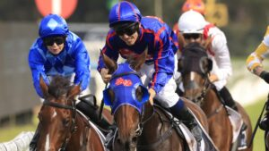 Tim Clark on Krone wins the Group 1 Coolmore Classic in March. Picture: Getty Images