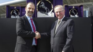 Racing NSW chief executive Peter V'landys and chairman Russell Balding. Picture: Hollie Adams/The Australian