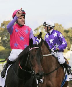 Kim Waugh is spruiking her stable star Trumbull for The Everest. Picture: AAP Image–Mark Evans
