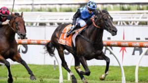 La Mexicana and jockey Jamie Kah will team up again at Saturday's Caulfield meeting. Picture : Racing Photos via Getty Images.