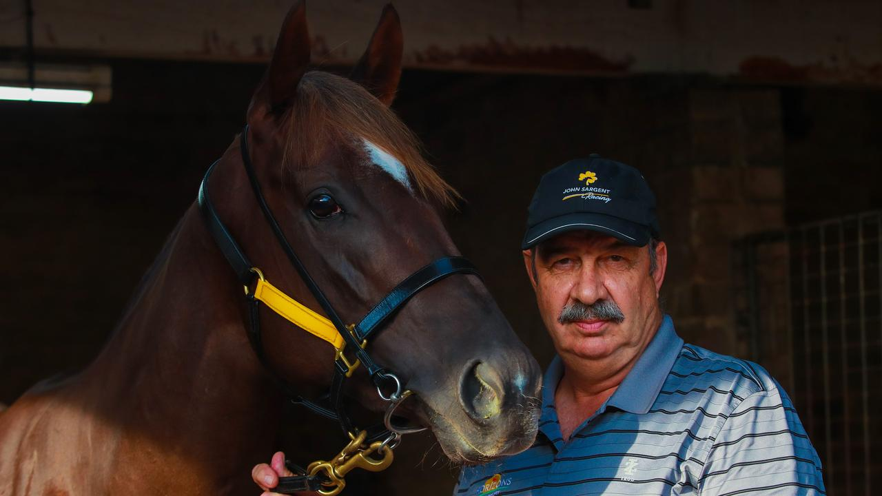 Trainer John Sargent with Four Moves Ahead. Picture: Justin Lloyd