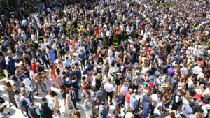 Crowds could be back for the 2021 Melbourne Cup. Picture: AAP Image/Vince Caligiuri
