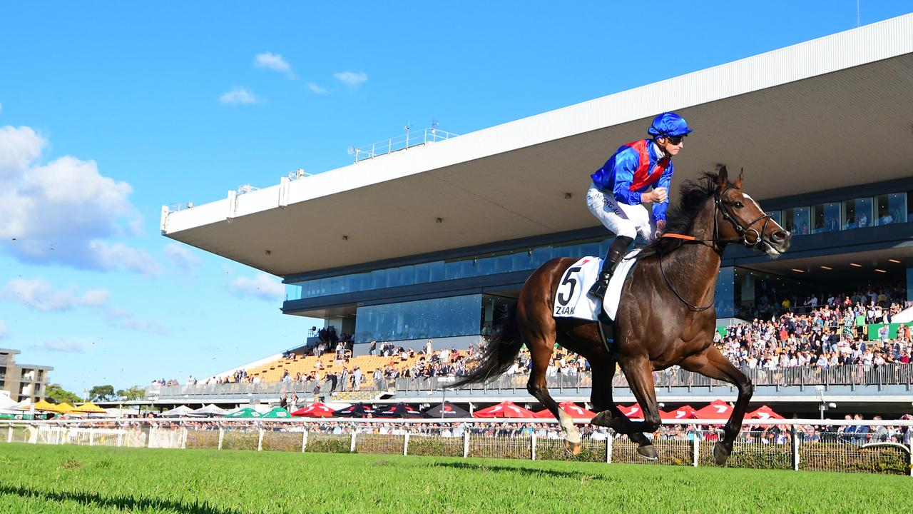 Zaaki winning the Doomben Cup. Wow! Picture: Grant Peters–Trackside Photography