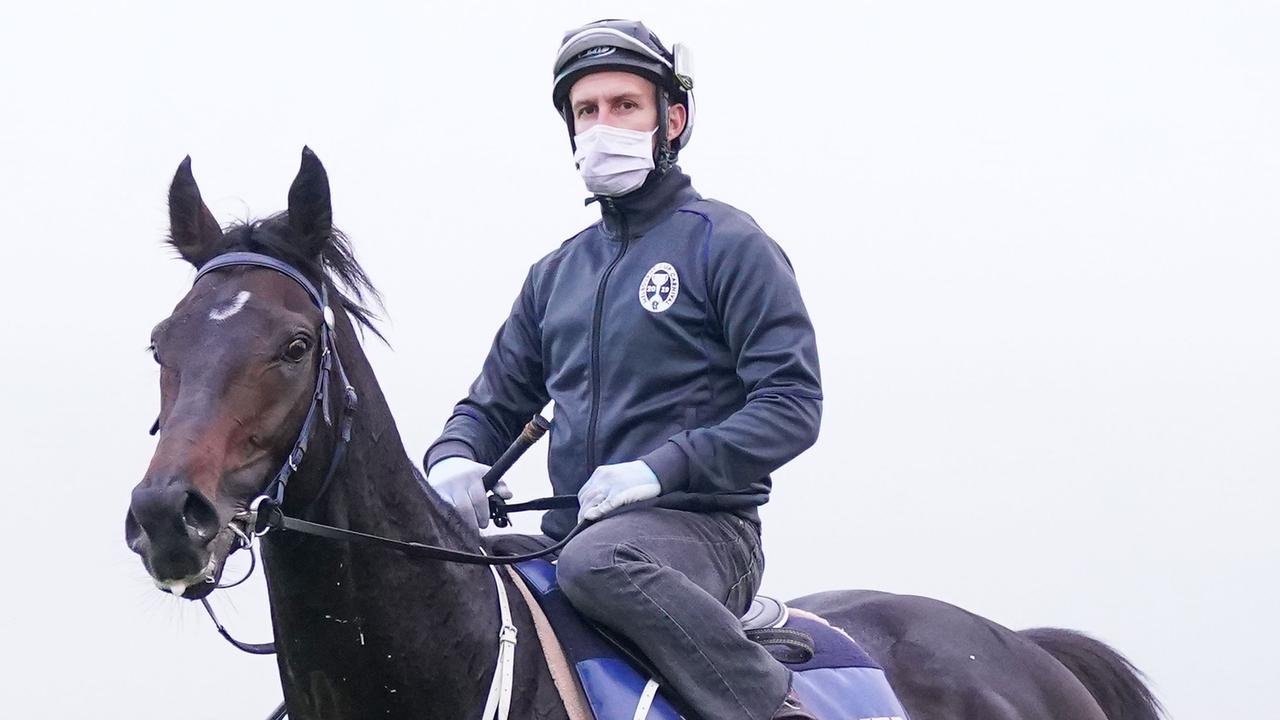 James Winks rode Sir Dragonet in trackwork last spring. Picture: Racing Photos