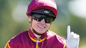 Jockey Craig Williams will ride the short-priced favourite Sandy Prince in the opening race at Moe. Picture: AAP