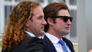 Trainers Ciaron Maher and David Eustace (right) have decided to apply similar vet demands as Racing Victoria for international buys. Picture: AAP