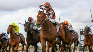 Damien Thorton rides The Astrologist to victory. Picture: Racing Photos via Getty Images