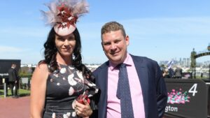 Trainers Natalie Young (left) and Trent Busuttin have Exceed Expect ready to fire first-up at Sale on Thursday. Picture: AAP