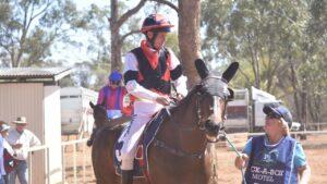 John Rudd returns after riding a winner. Picture: Supplied.