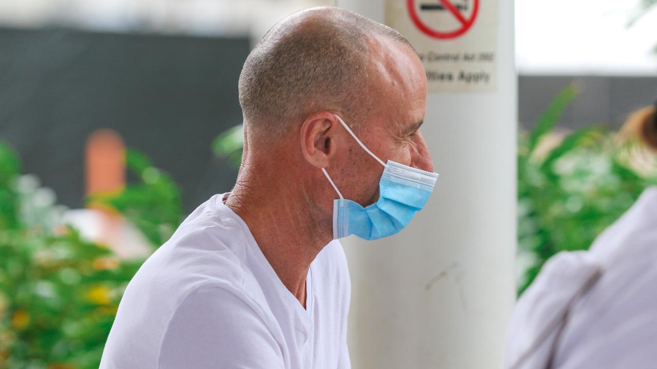 Jockey Glen Boss arrived at Darwin International Airport earlier this week . Pic - Glenn Campbell.