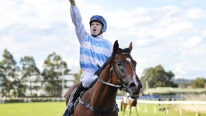 Golden Slipper winner Stay Inside returns in the San Domenico Stakes. Picture: Getty Images