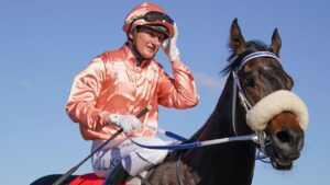 Racing Victoria stewards are probing an alleged illegal gathering involving Jamie Kah and three other jockeys. Picture: Racing Photos via Getty Images