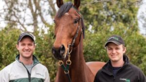 Brothers JD (left) and Ben Hayes are hungry for success as the new trainers heading the famous Lindsay Park facility at Euroa. Picture: Lindsay Park.