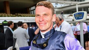 Jockey Ben Melham. Pic - AAP.