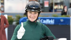 Jamie Kah has vowed to come back bigger and better than ever after her spring carnival-ending suspension. Picture: Racing Photos