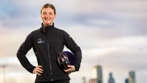 Jamie Kah claims Scobie Breasley Medal for historic 2020-21 Victorian season. Picture: Jason Edwards