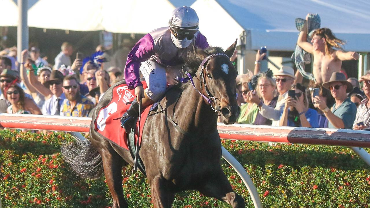 Highly Decorated winning the Darwin Cup. Picture: Glenn Campbell