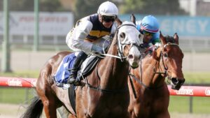 I'm Thunderstruck is an emergency and has drawn poorly in the Group 1 Sir Rupert Clarke Stakes at Caulfield. Picture: Racing Photos via Getty Images