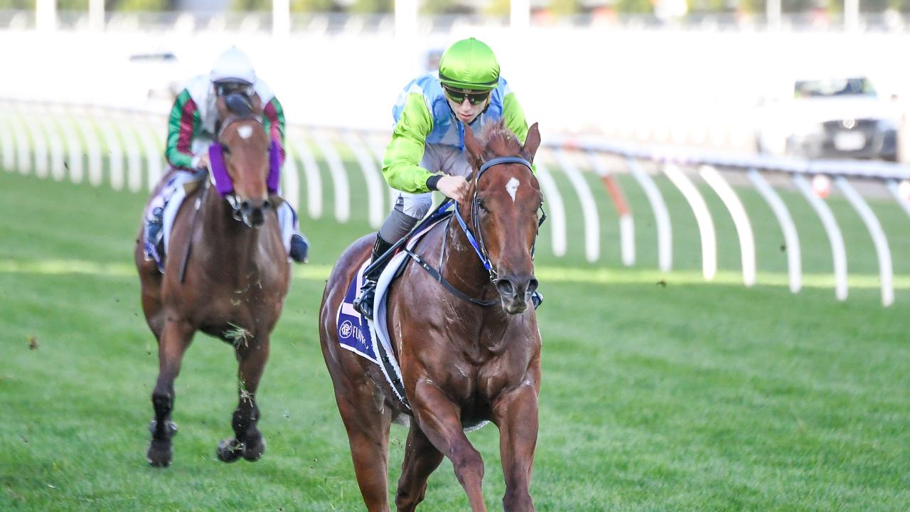 Front Page winning the AR Creswick Stakes at Flemington last year. Picture: Racing Photos via Getty Images