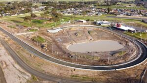 The new Traralgon J-turn greyhound track. Photo: Clint Anderson
