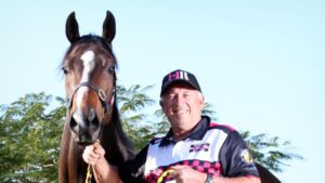 Trainer Rob Heathcote is looking forward to the race return of his pride and joy, Rothfire, in The Shorts at Randwick on Saturday