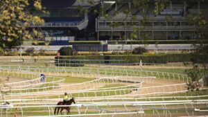 Extra Covid precautions have been taken at Royal Randwick Racecourse after a leading jockey tested positive to the illness. Picture: Mark Evans/Getty Images