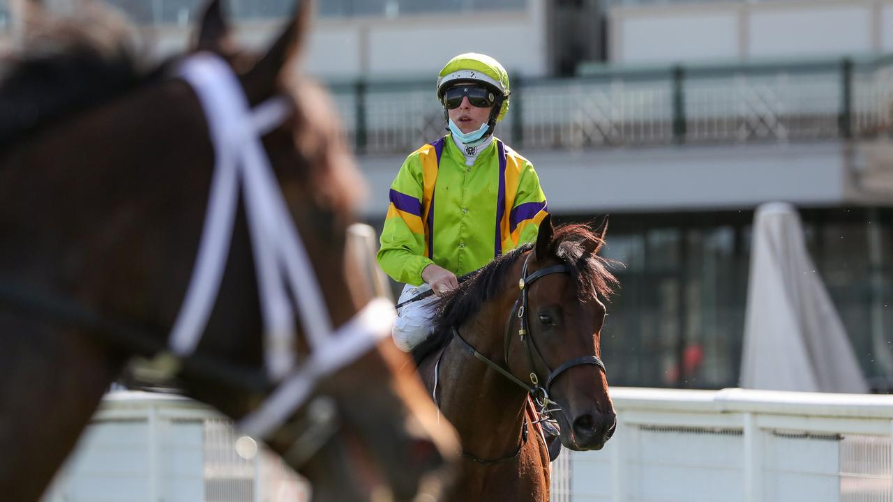 The opposition could only look on as General Beau charged home to win the Pinchapoo Plate. Picture: George Salpigtidis–Racing Photos via Getty Images