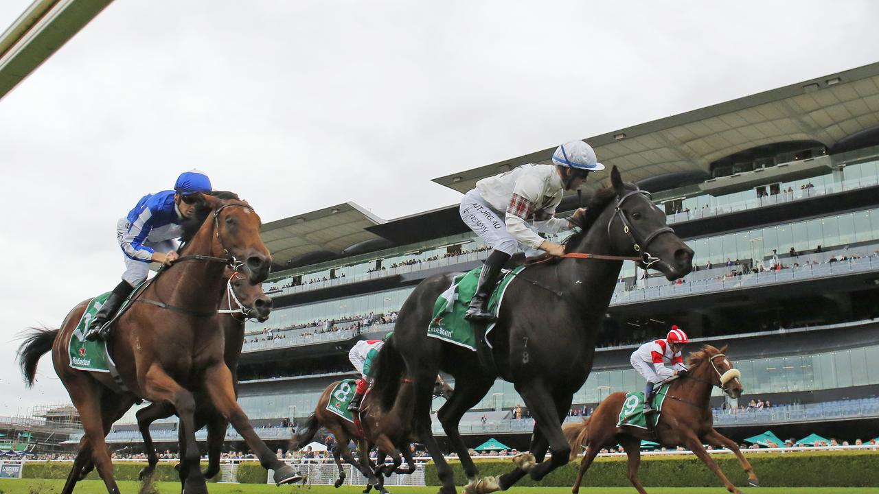 Tommy Berry on Jamaea winning the Percy Sykes Stakes at Randwick. Picture: Mark Evans—Getty Images