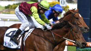 Jockey Jason Maskiell posted his biggest career win in the Group 2 Thousand Guineas Prelude at Caulfield last Saturday. Picture: Getty Images