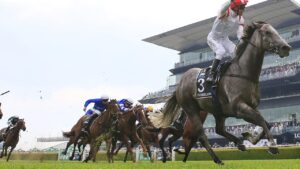 Kerrin McEvoy on Classique Legend the Everest last year. Picture: Getty Images