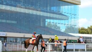Caulfield and its empty grandstand. Pic - AAP.