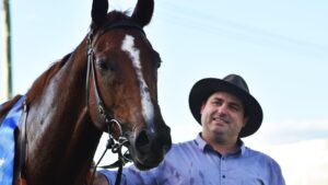 Trainer Daniel Bowen (pictured) is hoping a win by Amirykal at Lismore on Thursday can land her a slot in the Kosciuszko.