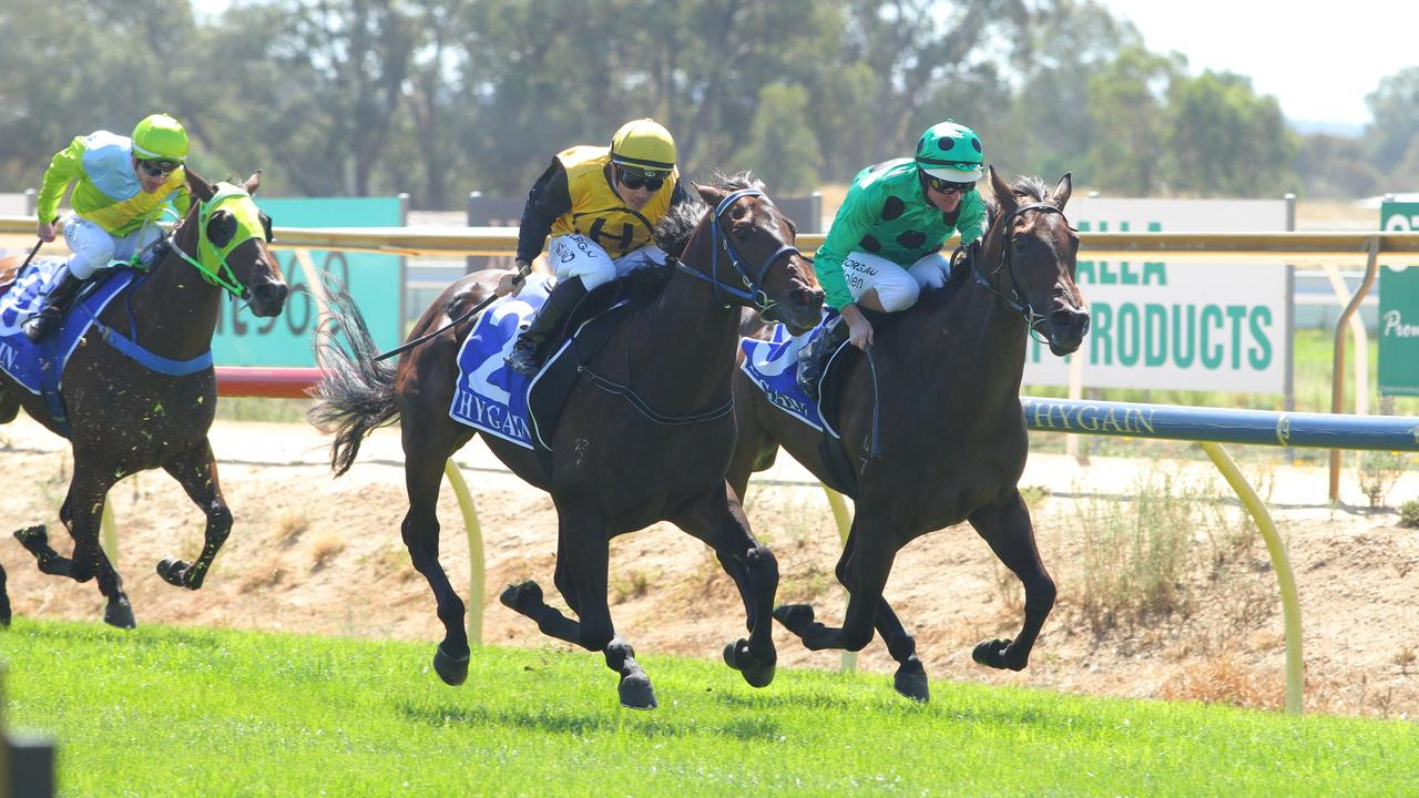 Benalla Cup Day meeting abandoned prior to first race due to a wet spot on the track. Picture: Racing Photos