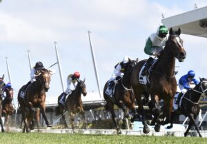 Entente taking out the Colin Stephen Quality at Rosehill on Saturday. Photo: Steve Hart.